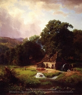 The Old Mill painting reproduction, Albert Bierstadt