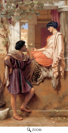 Painting Reproduction of The Old Old Story, John William Godward