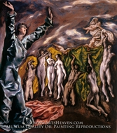 The Opening of the Fifth Seal (The Vision of Saint John) by El Greco