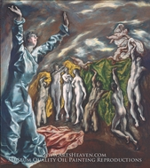 The Opening of the Fifth Seal (The Vision of Saint John) painting reproduction, El Greco
