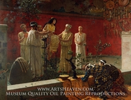 The Oracle painting reproduction, Camillo Miola