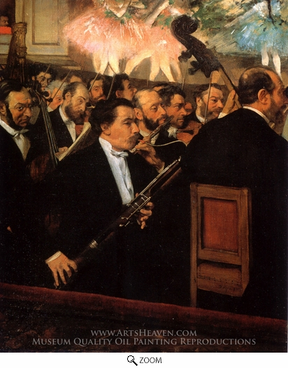 Edgar Degas, The Orchestra of the Opera oil painting reproduction