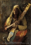 The Oriental Lute Player by Tornai Gyula