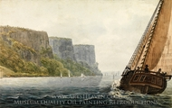 "The Packet ""Mohawk of Albany"" Passing the Palisades painting reproduction, Pavel Petrovich Svinin"
