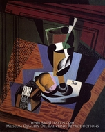 The Packet of Tobacco by Juan Gris