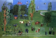 The Paddock by Raoul Dufy