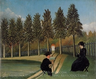 The Painter and His Wife painting reproduction, Henri Rousseau