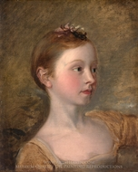 The Painter's Daughter Mary painting reproduction, Thomas Gainsborough
