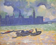 The Palace of Westminster by Andre Derain