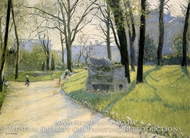 The Parc Monceau by Gustave Caillebotte