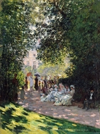 The Parc Monceau painting reproduction, Claude Monet