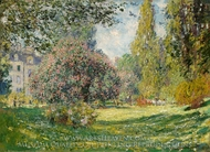 The Parc Monceau, Paris painting reproduction, Claude Monet