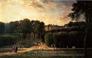 The Park at St. Cloud painting reproduction, Charles Daubigny