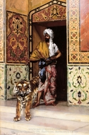 The Pashas Favourite Tiger painting reproduction, Rudolph Ernst