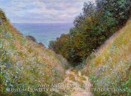 The Path at La Cavee, Pourville by Claude Monet