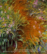 The Path through the Irises by Claude Monet