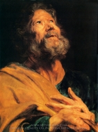 The Penitent Apostle Peter painting reproduction, Sir Anthony Van Dyck