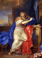 The Penitent Magdalene painting reproduction, Charles Le Brun