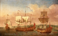 The Peregrine and Other Royal Yacht off Greenwich painting reproduction, Jan Griffer, The Elder