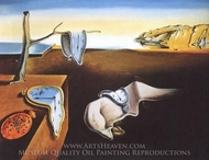 The Persistence of Memory painting reproduction, Salvador Dali (inspired by)