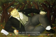 The Poet painting reproduction, Fernando Botero