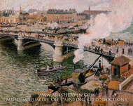 The Pont Boieldieu, Rouen: Damp Weather by Camille Pissarro