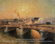 The Pont Boieldieu, Rouen: Sunset by Camille Pissarro