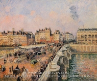 The Pont-Neuf: Afternoon Sun painting reproduction, Camille Pissarro