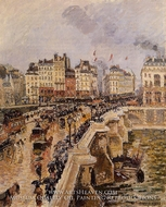 The Pont-Neuf: Rainy Afternoon by Camille Pissarro