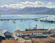 The Port de Bougie, Algiers, in Sunlight by Albert Marquet