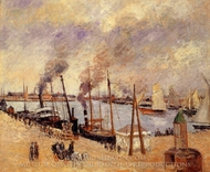The Port of Le Havre painting reproduction, Camille Pissarro