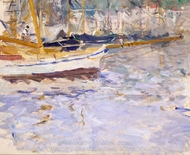 The Port of Nice painting reproduction, Berthe Morisot