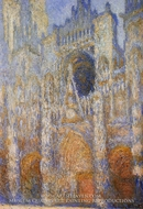 The Portal of Rouen Cathedral at Midday by Claude Monet