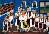 The Preparation of a Future Bride painting reproduction, Anuta Tite