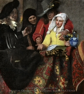 The Procuress painting reproduction, Jan Vermeer