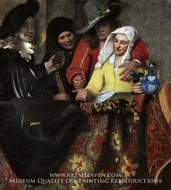 The Procuress by Jan Vermeer