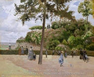 The Public Garden at Pontoise painting reproduction, Camille Pissarro
