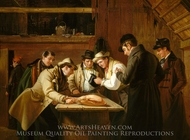The Raffle (Raffling for the Goose) painting reproduction, William Sidney Mount