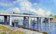 The Railroad Bridge at Argenteuil by Claude Monet