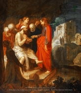 The Raising of Lazarus painting reproduction, Jan Symonsz. Pynas