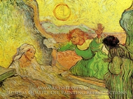 The Raising of Lazarus (after Rembrandt) by Vincent Van Gogh