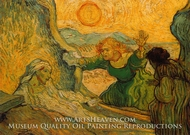 The Raising of Lazarus (after Rembrandt) painting reproduction, Vincent Van Gogh