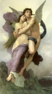 The Rapture of Psyche (Le Ravissement de Psyche) painting reproduction, William Adolphe Bouguereau