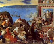The Recapture of Bahia painting reproduction, Fray Juan Bautisto Maino