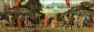 The Reconciliation of the Romans and Sabines painting reproduction, Jacopo del Sellaio