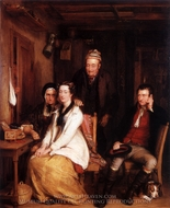 "The Refusal from Burn's ""Duncan"" painting reproduction, Sir David Wilkie"