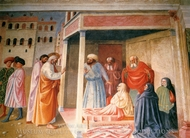 The Resurrection of Tabatha painting reproduction, Tommaso Masolino