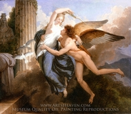 The Reunion of Cupid and Psyche painting reproduction, Jean-Pierre Saint-Ours