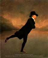 The Reverend Robert Walker Skating on Duggington Loch painting reproduction, Sir Henry Raeburn