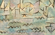 The Rhine at Duisburg by Paul Klee